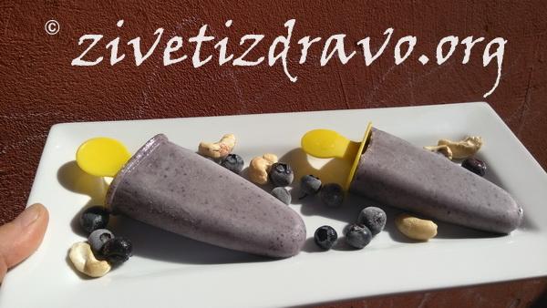 Sladoled sa borovnicama